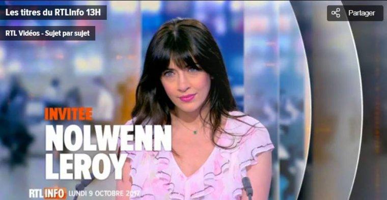 Nolwenn Leroy - JT RTL TVI Info 09/10/2017