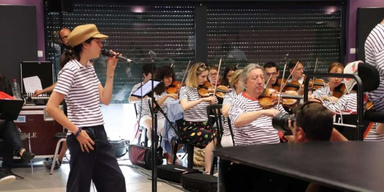 Nolwenn Leroy - Répétition avec l'orchestre du Violon sur le sable 25/07/2018