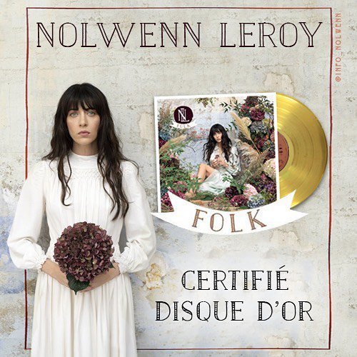 """Nolwenn Leroy - DISQUE D'OR """"ALBUM FOLK"""" 28/12/2018"""