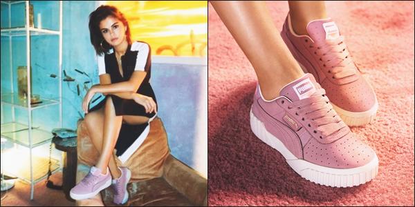 Selena Gomez a été photographié pour « Puma collection Cali Nubuck ».  ▲