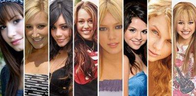 Miley Cyrus, Demi Lovato, Asley tisdale, Vanessa Hudgens, Demi Lovato, Hilaty Duff, Selena Gomez, Taylor Swi