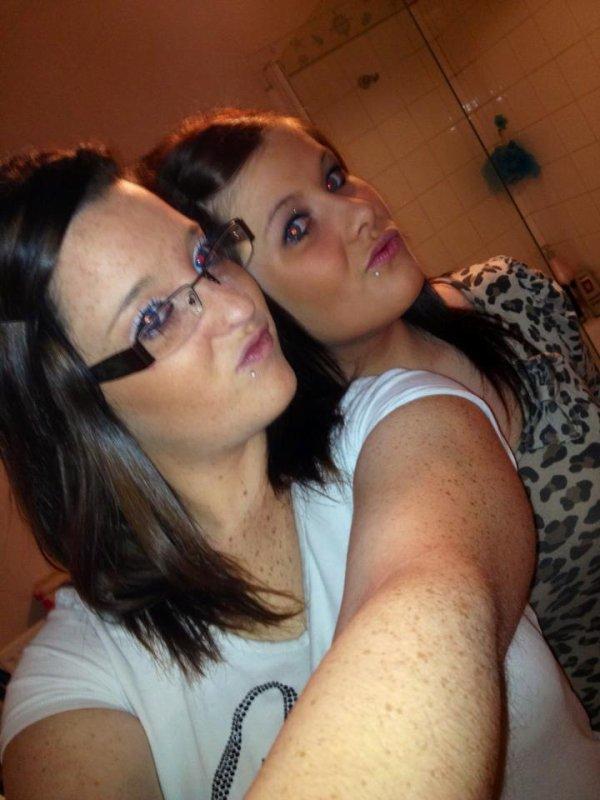 moi et kelly (je suis en leopard)
