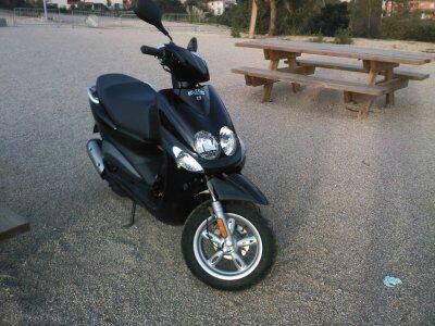 La nouvelle tête de mon scooter dans quelques mois déjà au garage