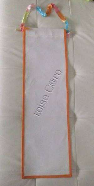 toise à broder orange (73x22cm) toile aida 5,5pts / 18¤