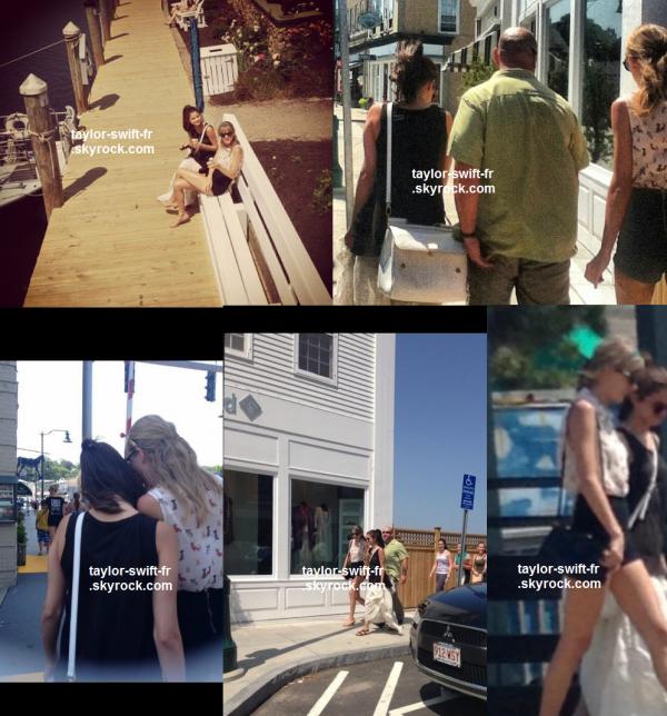le 21 juin 2013 - Taylor était avec sa meilleure amie Selena Gomez pour une petite balade - au Connecticut