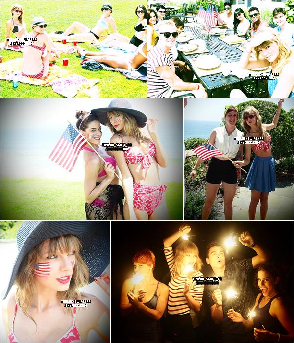 le 4 juillet 2013 - Taylor était à Rhode Island pour fêter l'indépendance américaine avec tous ses danseurs.