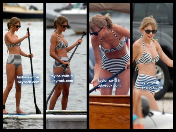 le 28 juillet 2013 - taylor au paddle board à Watch Hill, Rhode Island