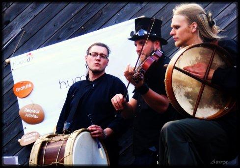 """Concert de """"La Horde"""" le 25septembre à l'occasion de Tempocolor à la Caserne Fonck, Liège."""