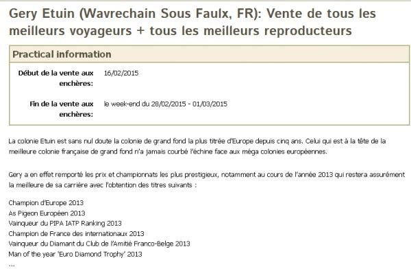 VENTE GERY ETUIN de WAVRECHAIN SOUS FAULX sur http://www.pipa.be