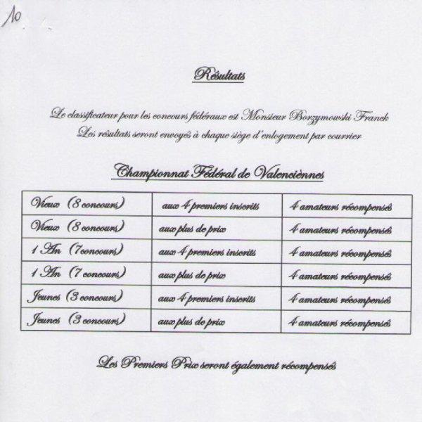 GROUPEMENT DE VALENCIENNES - INSTRUCTIONS CONCOURS 2016 - SUITE
