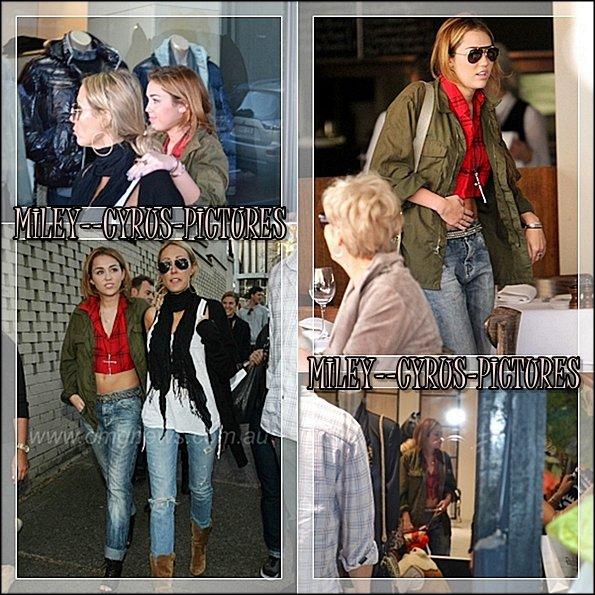 18 Juin : Miley se promenant dans Sydney (Australie)