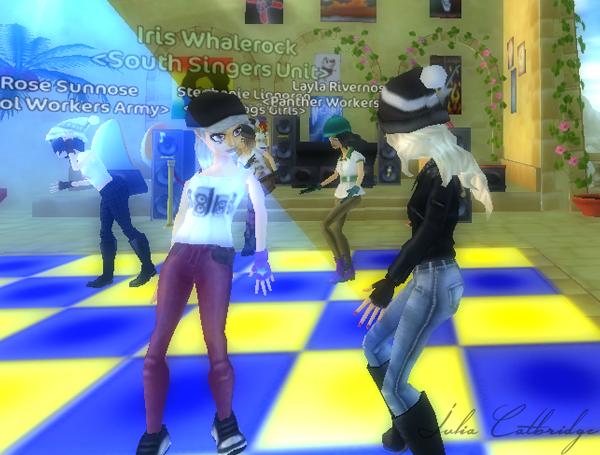 A la disco avec une amie !