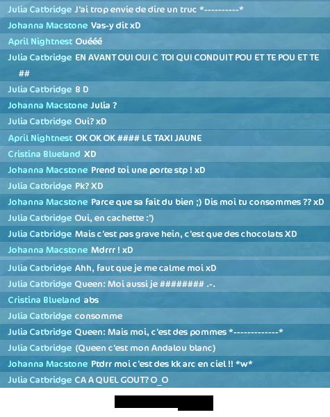 Okey, on est normales avec Johanna.