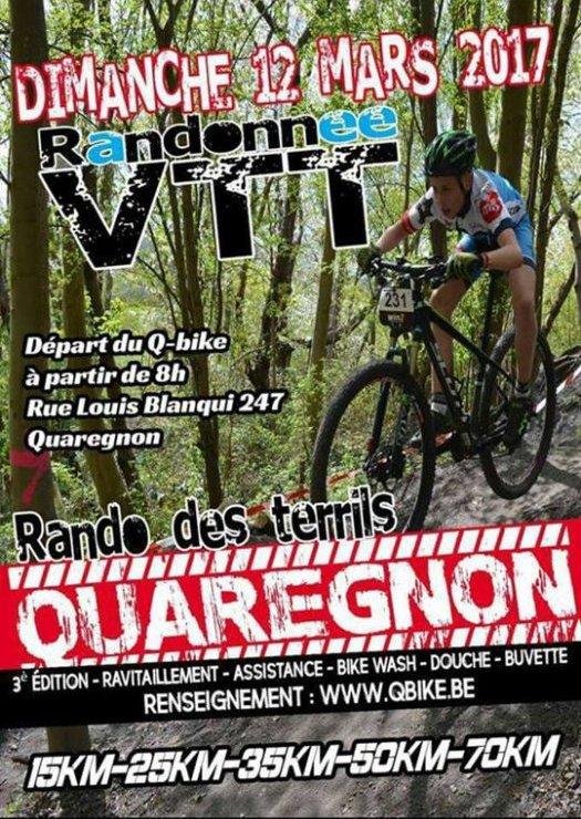 Rando Qbike, Quaregnon le 12 mars 2017