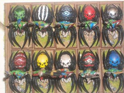 Mes gobelins sur araignés.