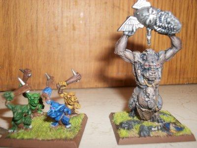 Snotlings(ancienne édition) et mon premier troll.