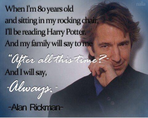 Alan Rickam, un grand acteur! #ripalanrickman