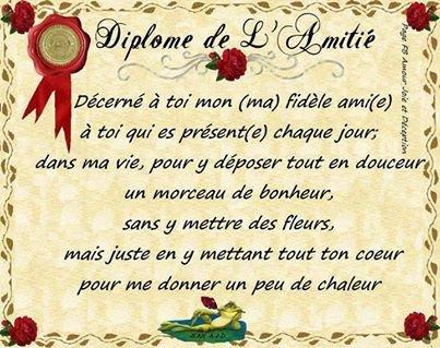 Diplome d'Amitié