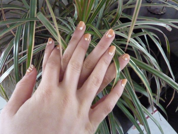 Nail art sur fresh melon