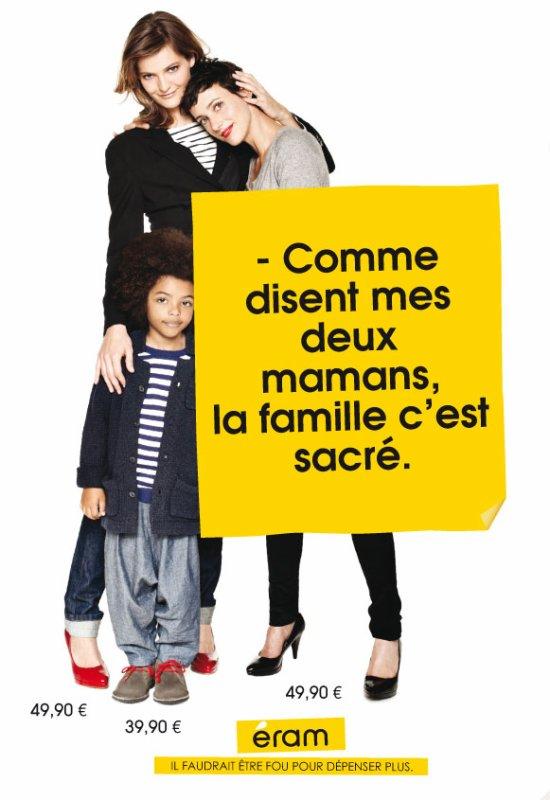 """PUB : Eram et sa campagne """"la famille c'est sacré"""""""