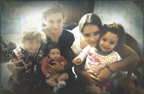 Mes princesse avec leur mamie cherie