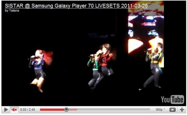 - MIGHTY SISTAR ! Sistar a Galaxy Player 70 -