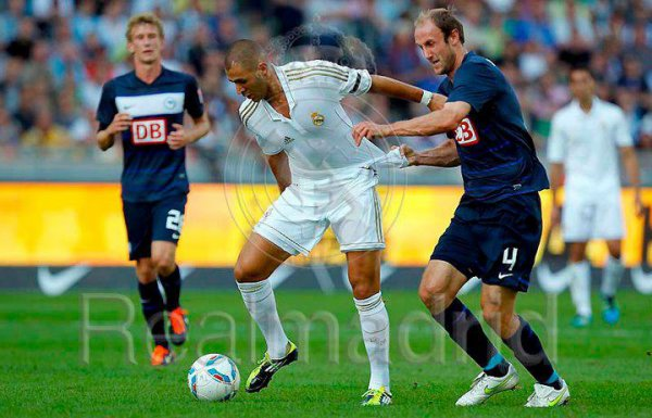 Real Madrid 2-1 Philadelphia Union, à Berlin.