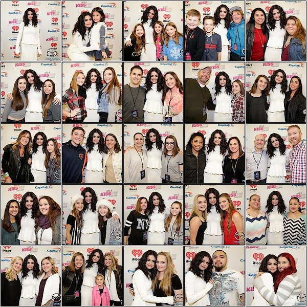 -- 16/12/15: Selena à pris des photos avec des fans au Jingle Ball Meet & Greet FM à Chicago, IL --