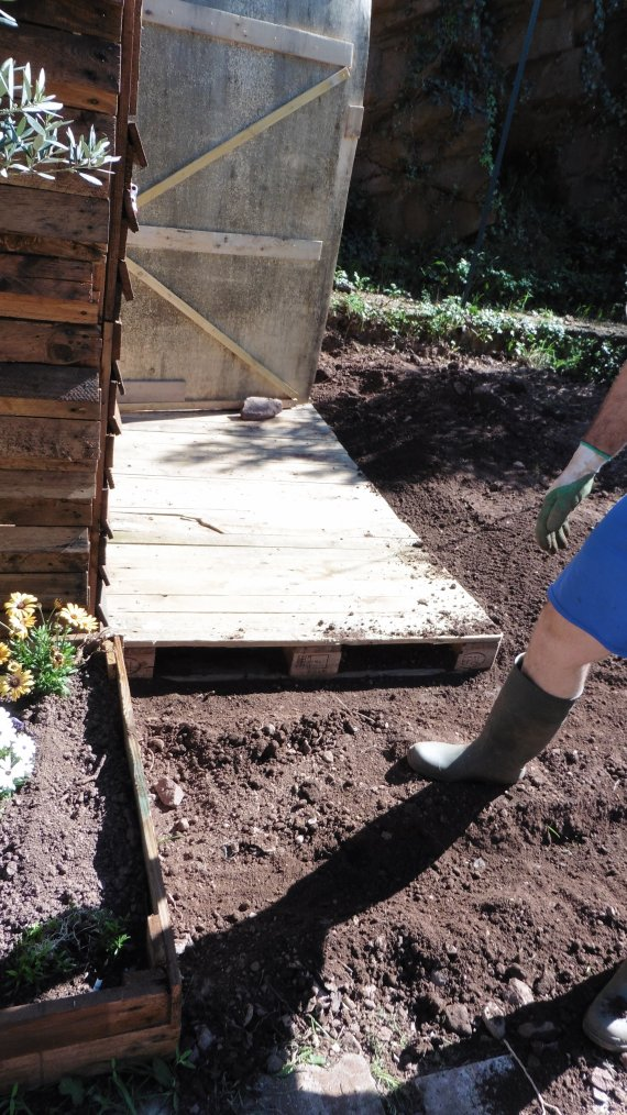 On continue l'aménagement du jardin
