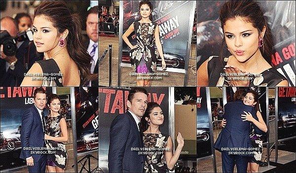 26/08/13 : Selena été présente à l'avant première de Getaway à Los Angeles