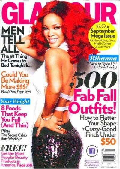 Rihanna ♥ en couverture dde Glamour !