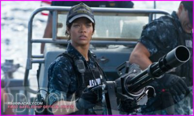 """Rihanna: Voici les premières images de sa participation dans"""" Battleship"""""""