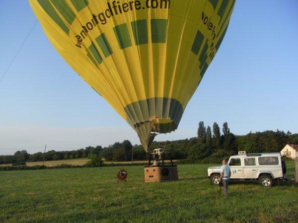 Mon bapteme de l'air ,vol en montgolfière au dessus de la Moselle