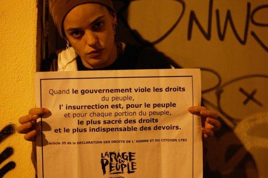 « N'ayont pas peur car nous sommes le monde et le système n'est rien sans nous !»