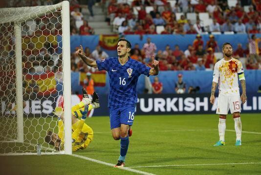 Croatie Espagne Un de chute pour la Roja