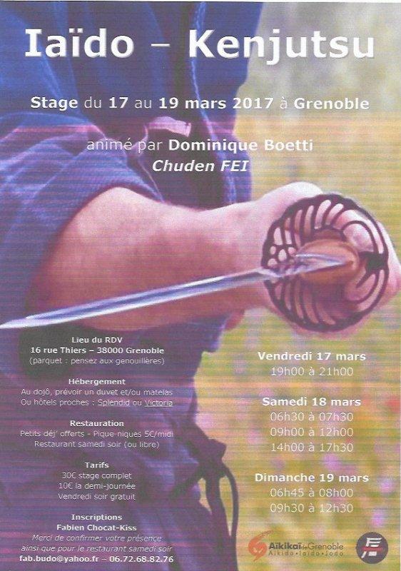 iaïdo & kenjutsu à GRENOBLE en  Mars 2017