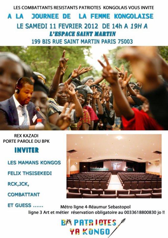 JOURNEE DE LA FEMME KONGOLAISE A PARIS PAR BPK