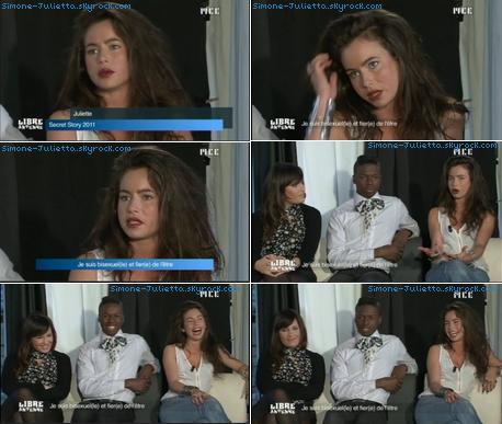 """PHOTOS: Juliette dans l'émission """"Libre Antenne"""" sur MCE - 16/01"""
