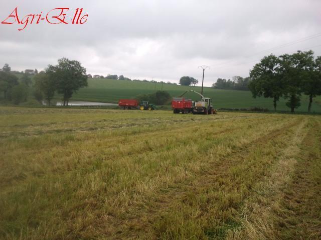 ensilage d'herbe avec la jaguar 850