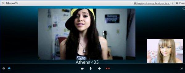 Skype avec Athénaaa<3.