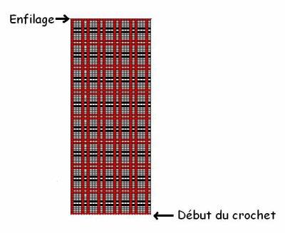 Burberry : Bracelet large au crochet