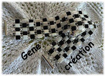 Noir et Blanc ... bracelet