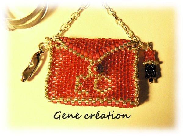 Porte-clefs ou bijou de sac personnalisé