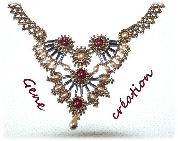 Collier Atelier TEMPO du blog collectif de Perles Dent'Elles
