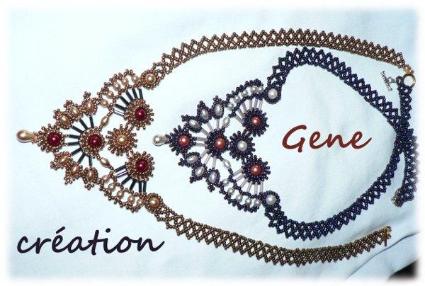 Les 2 colliers  de l'atelier TEMPO ensembles