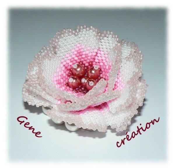 Une rose perlée pour la St-Valentin