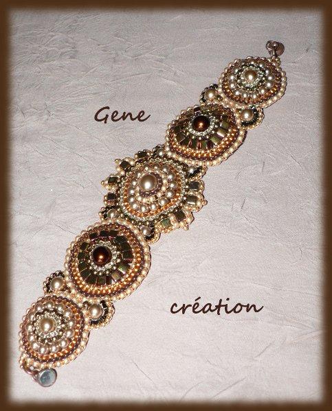 Bracelet en brick stitch circulaire