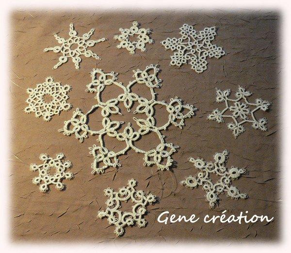 Frivolité...étoiles de neige
