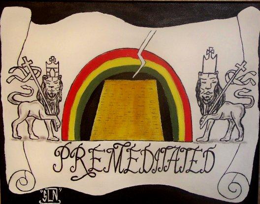 PREMEDITATED SOUNDZ fait a la Peinture .Aout 2010. Sound system NY.