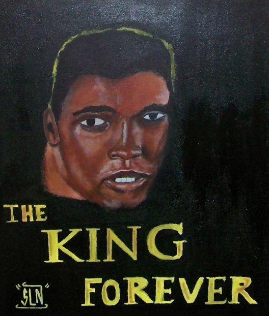 MOHAMED ALI fait a la peinture.Septembre 2010. Legend